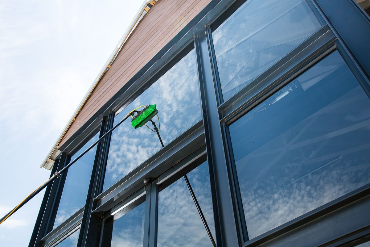 Water fed pole window cleaning services for Window washing